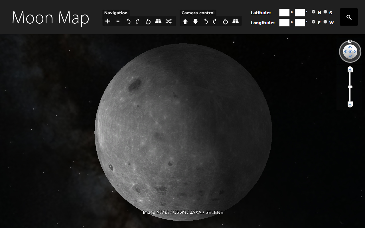 Moon 3D Map allows you to view Moon landscape in a new way.